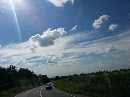 Clear skies over the open road!