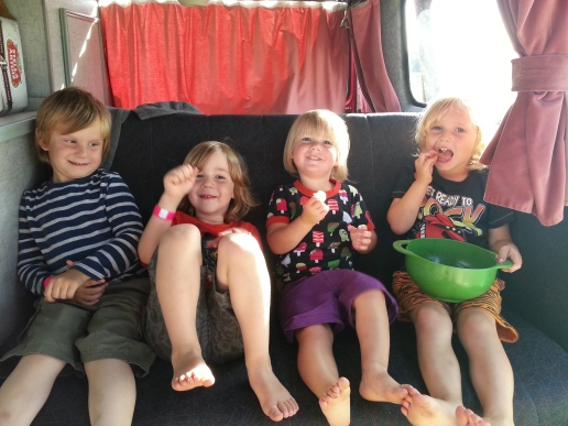 Happy campers in the happy camper...