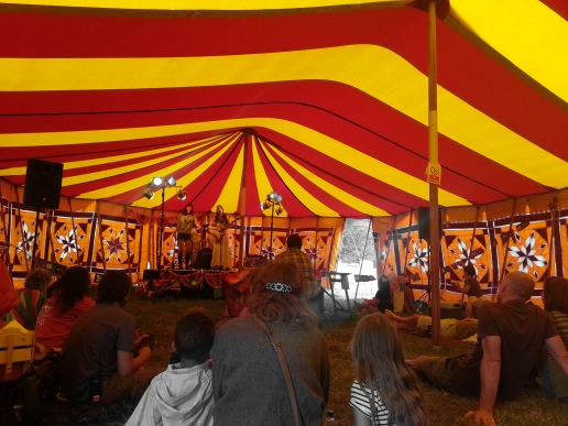 Inside the Main Tent