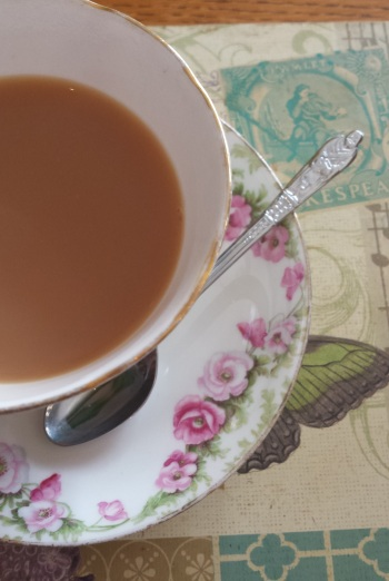 ...pretty teacup and cute teaspoon...